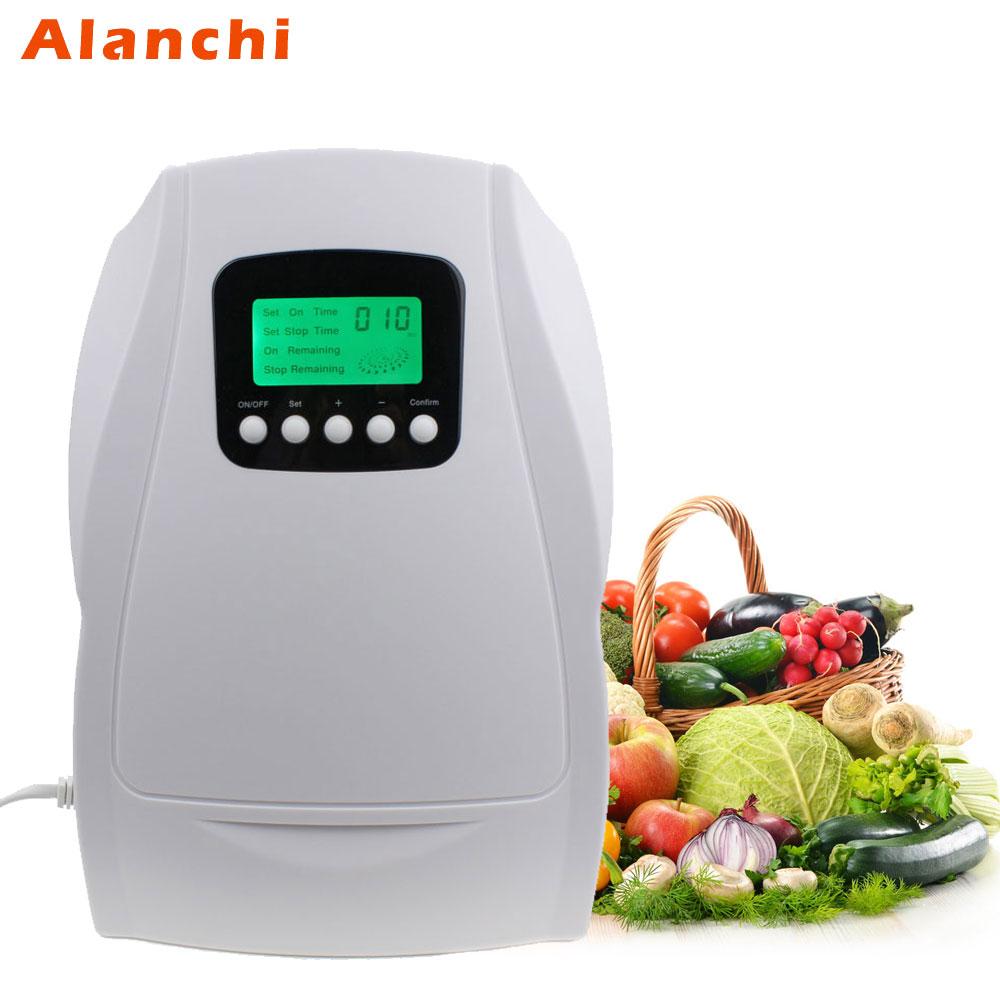 Portable Active Ozone Generator Sterilizer Air purifier Purification Fruit Vegetables Water Food Preparation Ozonator Ionizator