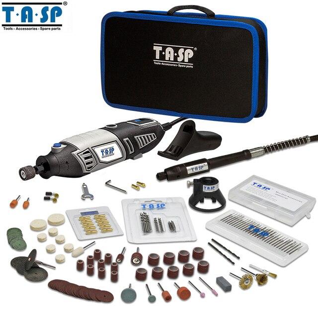 Мини-дрель гравер мощностью 170Вт TASP MMD1700B с набором насадок и сумка для хранения