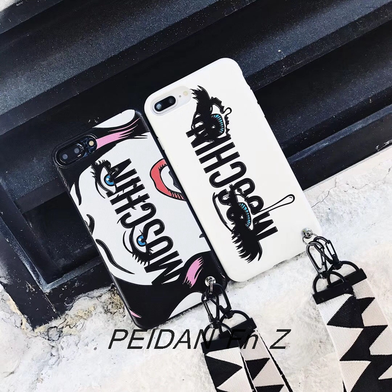 PEIDAN Luxury Milan Brands Moschin Goddess Eyes Soft Phone Case For Iphone X 6 7 8 Plus Fashion Cool Phone Protect Cover Capas