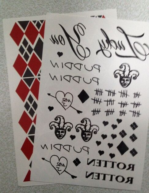 Suicide Squad Harley Quinn Kostuum Tattoo Stickers Kids Classic Fun