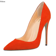 9f8b0e30 Yifsion nueva mujeres bombas Sexy Stiletto tacones altos bombas agradable  punta 8 colores de fiesta zapatos