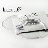 비구면 1.67 렌즈 초박형 CR-39 수지 렌즈 UV 반사 코팅 광학 안경 근시 노안 안경