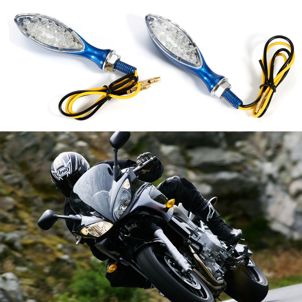 High Quality 2PCS 12 LED Turn Signal Blinker Flasher Side Marker Indicator DRL For Motorcycle One Pair 4 Colors 4 pcs 12 led motorcycle turn signal lights bendable flashing motorbike indicator blinker moto tail lights signal lamp for harley