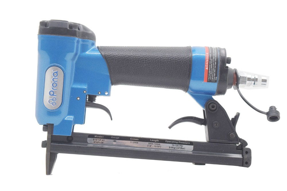 High Quality TaiWan Prona 1010F Pneumatic Nail Gun Air Stapler Gun Tool Brad Gun U Style Furniture Wood Sofa Work high quality 425kl u type pneumatic nail gun air stapler tools pneumatic brad nailer gun 16 25mm