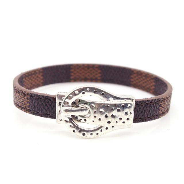 Hand Leather Bracelet Men...