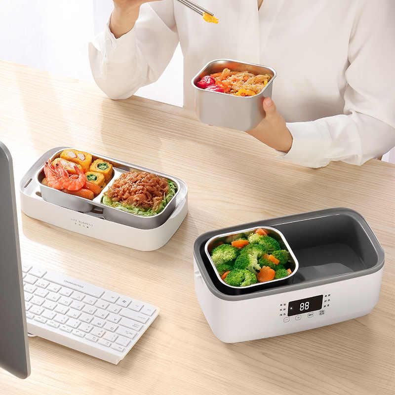 Kbxstart 220V متعددة الوظائف صندوق غداء كهربي 1.5L طبقة مزدوجة الفولاذ المقاوم للصدأ بطانة الحرارة الحفاظ جهاز طهي الأرز ل مكتب