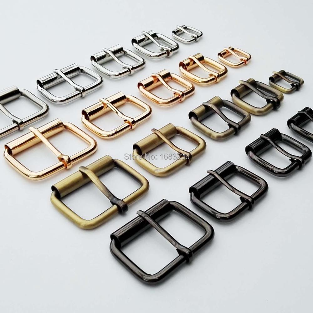 Borsa a mano in metallo resistente fai-da-te cinturino per scarpe cintura Web regola rullo fibbia ad ardiglione anello rettangolare a scatto spessore di riparazione artigianale in pelle