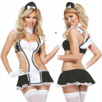 Sex Maid Lady Women Sexy Lingerie Hot Lace Sexy Maid Costumes Babydoll Teddy Erotic Lingerie Sexy