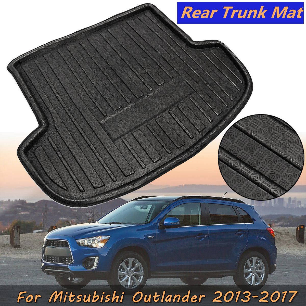New Tray Boot Liner Cargo Rear Trunk Mat Boot Liner Cargo Mat Tray Floor Carpet Mud Kick For Mitsubishi Outlander 2013~2017
