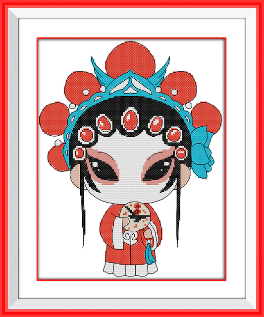 Female Role In Chinese Opera Dmc Embroidery Thread Chinese