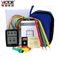 1pcs VICTOR VC850 3 Phase Sequence Rotation Indicator Tester 200~480V Checker Meter LED + Buzzer