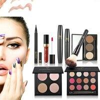 2017 Hot Maquiagem Makeup Set Gift Set Eye Shadow Lip Gloss Blush Pink Lip Liner Set