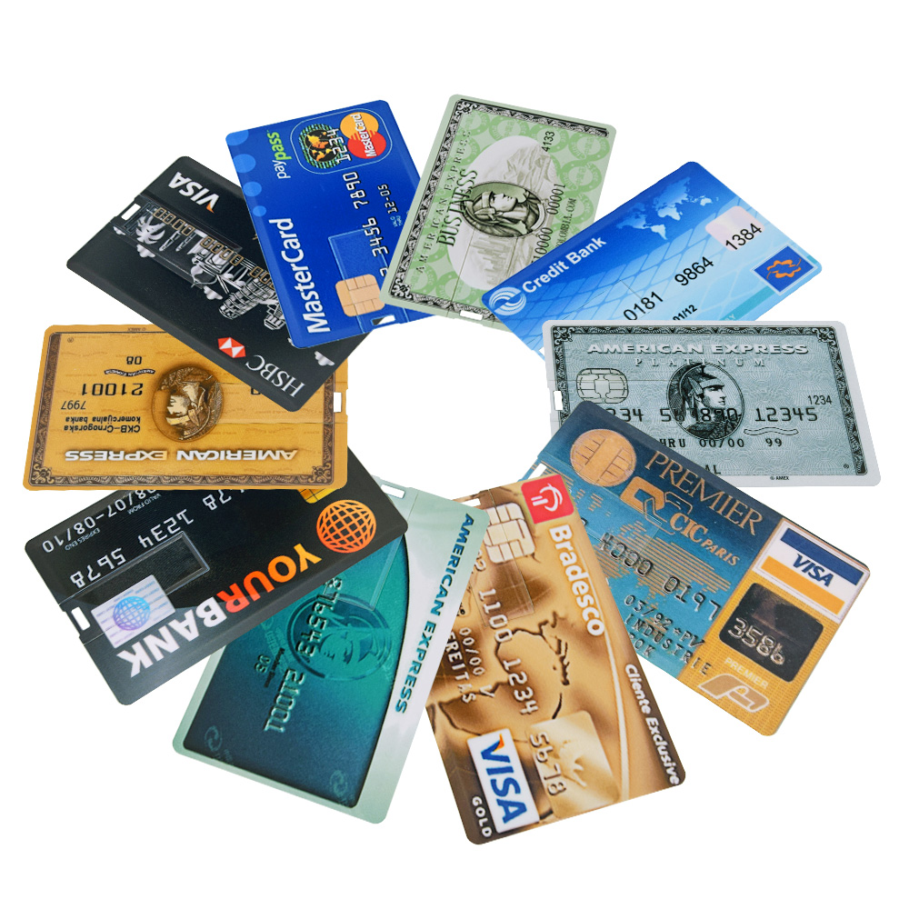 NEW bank Card USB Flash Drive visa cards pen drive 2.0 4GB 8GB 16GB 32GB 64GB USB Credit card Memoria Stick pendrive custom logo-in USB Flash Drives from Computer & Office
