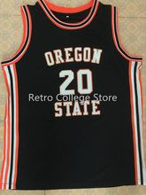 ce8ce2d8ae88  20 Gary Payton Oregon State Beavers Basketball Jersey Black Embroidery  Stitched Customize any size and