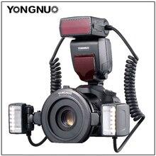 YONGNUO YN 24EX anillo Macro Flash Speedlite con 2 cabezales de Flash 4 anillos adaptadores para cámara Canon