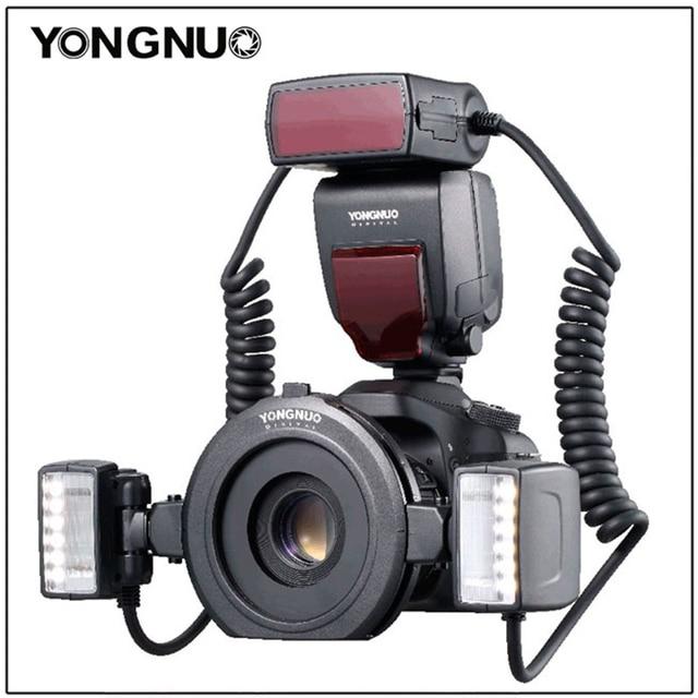 Yongnuo YN 24EX الماكرو حلقة فلاش speedlite مع 2 رئيس 4 محول خواتم لكانون كاميرا فلاش