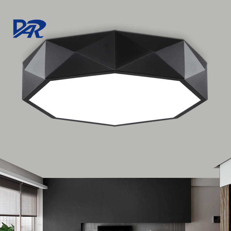Dia 41/51/68cm Wrought Iron Ceiling Lamp For Living Room Modern Led Ceiling Light Fixtures Plafon Led Home Lighting Verlichting noosion modern led ceiling lamp for bedroom room black and white color with crystal plafon techo iluminacion lustre de plafond