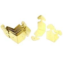 Угловые скобки угол Кронштейны 45 мм x 22 мм x 45 мм 10 шт. золото