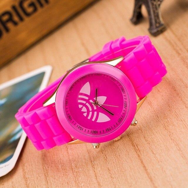 13 kolorów moda aplikator z miękkiego silikonu zegarek