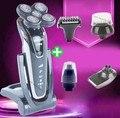 5D Cinco Cabezas Flotantes de Afeitar Eléctrica del Condensador de Ajuste Lavable a prueba de agua IPX7 máquinas de Afeitar Eléctricas para Los Hombres Máquina de Afeitar de Afeitar Masculina