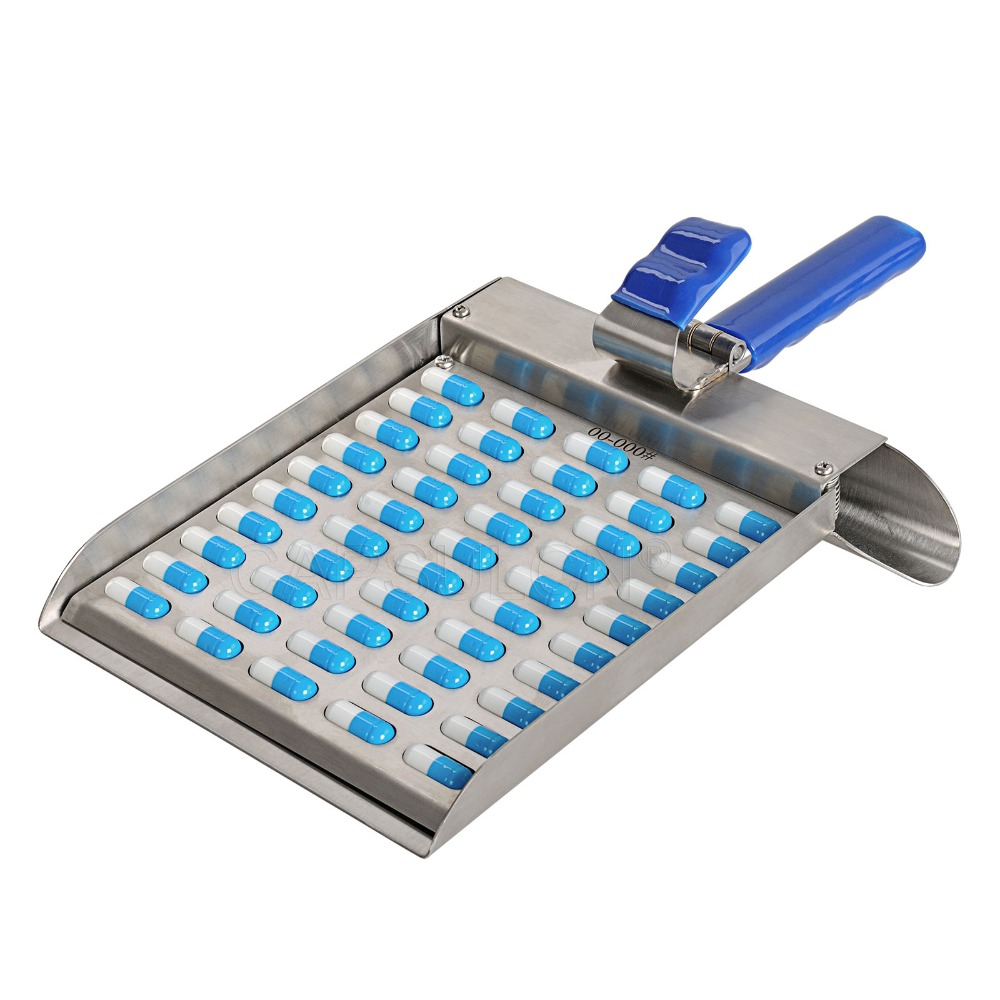 Warehouse in USA stainless steel metal capsule counter 50 holes/count board CN-50MC size 000#-1# недорого