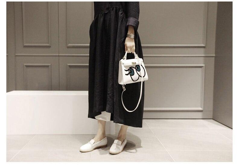 Frauen Neue Herbstkleider Baumwolle Leinen Langarm Vintage Kleid - Damenbekleidung - Foto 4