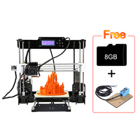 Anet A8 3D Printer i3 DIY Kits Self Assembly Auto Self leveling Acrylic Frame Printing Support ABS/PLA/HIPS/PP/Wood Filament