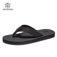 Sandálias de marca homem chinelos plana confortável flip flops sapatos casuais verão praia hembre sapatenis masculino