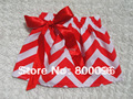 Chevron skirts red and white striped bow girls skirt KP-AS003