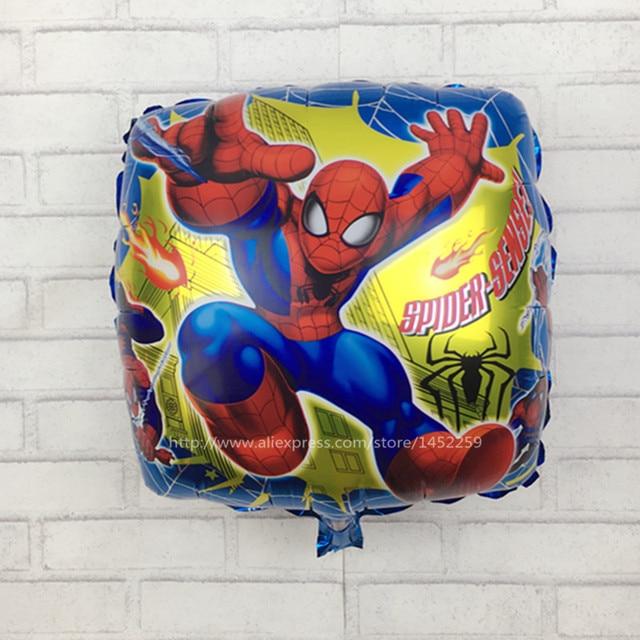 XXPWJ Frete Grátis New spiderman praça de alumínio balões da festa de aniversário balões balão brinquedos para crianças atacado M-009
