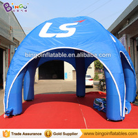 Free shipping 6m Inflatable spider tent with digital printing for advertising inflatable lawn tent with 5 legs toy tent