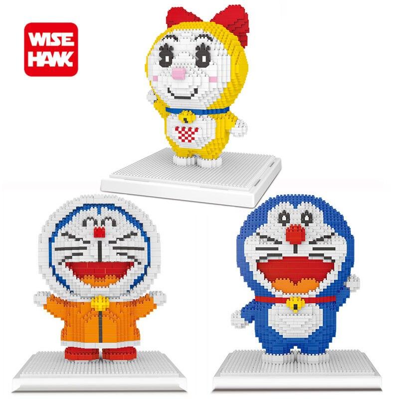 Wisehawk Toys Hobbies Building Blocks Nanoblock Mini Blocks Kawaii Doraemon Anime Cartoon Micro Building Bricks Toys For Kids.