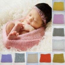 40*60 см, тянущиеся вязаные одеяла для новорожденных, реквизит для фотосессии, полые Детские обертки, s гамак, фото пеленальные одеяла D35