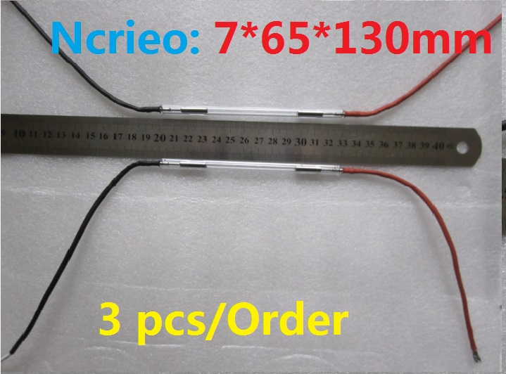 economical 7*65*130mm flash xenon lamp 3 pieces