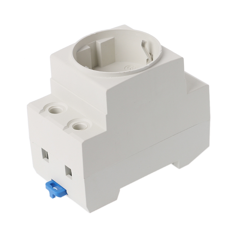 2019 New 1 Pc EU Type Socket Type 35mm DIN Rail Mount AC Power Socket Modular 16A 250V AC Receptacle Connector