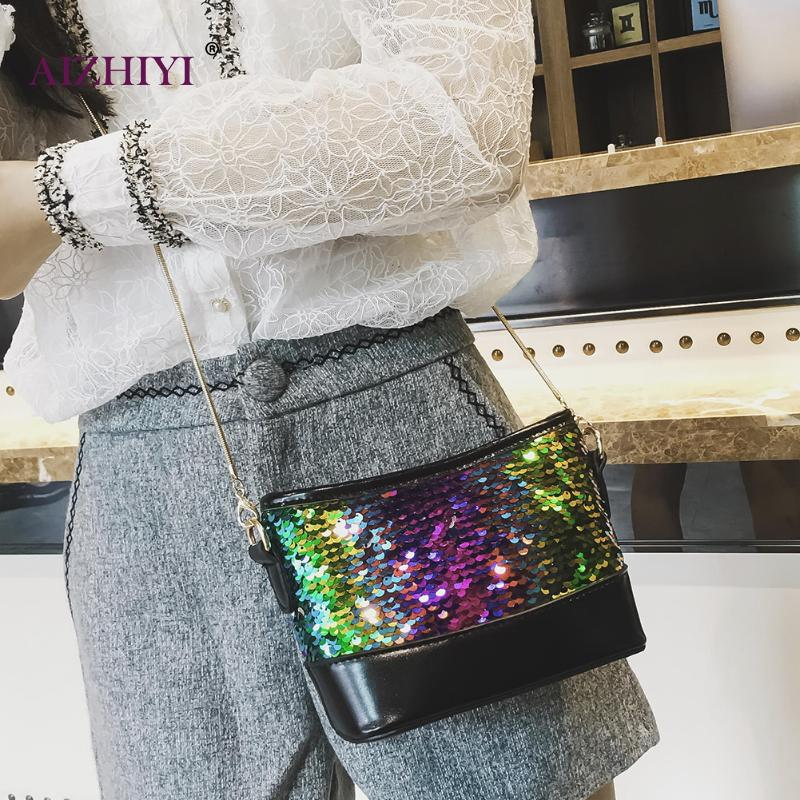 Fashion Lady Shinning Glitter Handbag Crossbody Bag for Women Sequins  Evening Pouch Shoulder Messenger Flap Party bags -in Top-Handle Bags from  Luggage ... 7b70aee7e2da