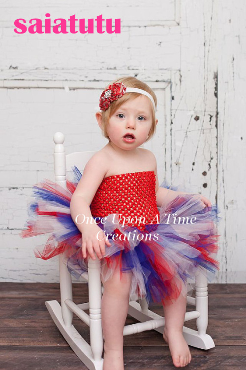 red tulle baby flower girl wedding dress fluffy birthday evening prom cloth ball gown party rainbow multicolour tutu dress USA комплект дефлекторов vinguru накладные скотч для kia sportage 2010 4 шт