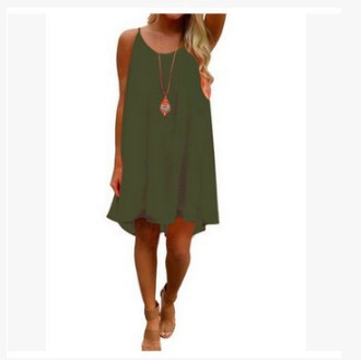 651b4ec23a9c Dropwow Women beach dress fluorescence female summer dress chiffon voile  women dress 2018 summer style women clothing plus size 5XL