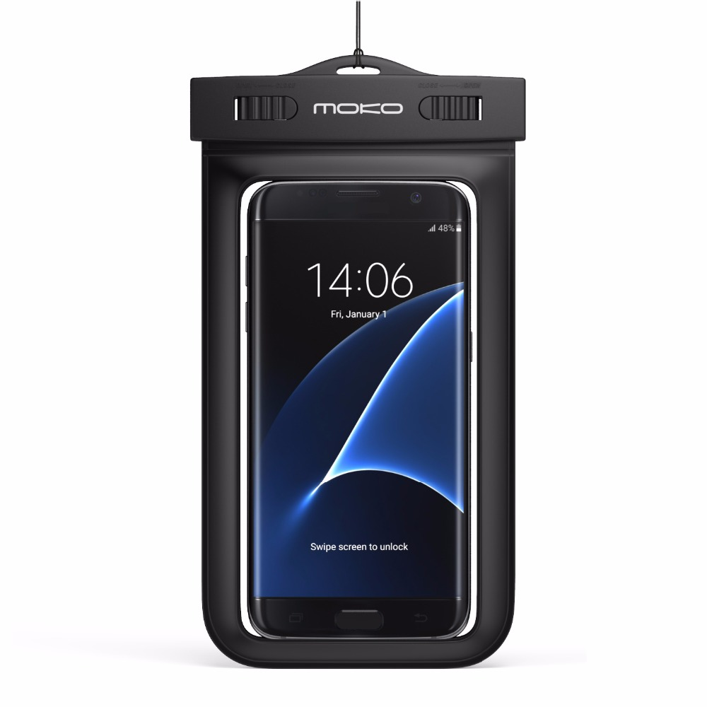 Universal Waterproof Case,MoKo Underwater CellPhone Dry Bag Pouch For IPhone X /8 Plus /8/7/6s Plus, Galaxy S8+/ S8,Honor &More