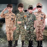 Outdoor Kids Costumes Us Army Military Uniform Camouflage Tactical Clothing Training Unisex Policemen Costumes Tactical Clothing