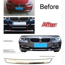 1 STÜCKE Auto DIY Edelstahl Frontschürze Licht Abdeckung fall aufkleber für Bmw F30 F35 3 Serie 316i320li328li Teil zubehör