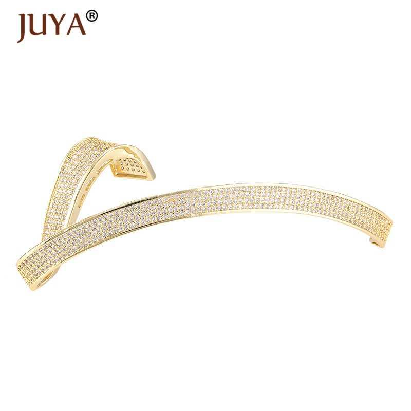 Liefert Für Schmuck Großhandel Luxus AAA Zirkon Strass Lange Anhänger Anschlüsse DIY Perle Halsketten Schmuck Komponenten