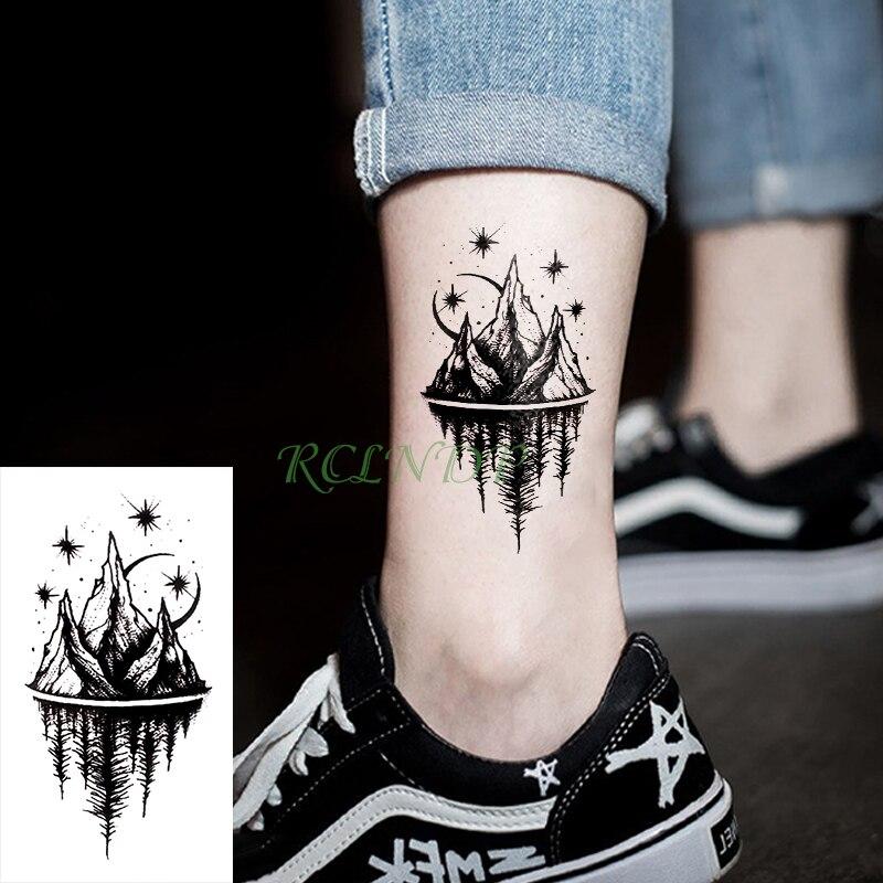 Водостойкие временные тату наклейки Moon Hill forest star временная татуировка Flash Tatoo Tatouage Body Art Ручная ножка для девочки женщины мужчины