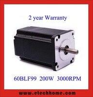 60 mm Brushless DC Motor 48V 200W 3000rpm