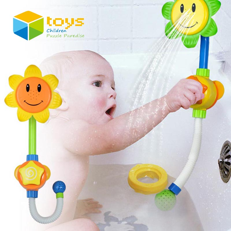 Baby Bath Toys for Children Kids Shower Room Sunflower Spraying ...