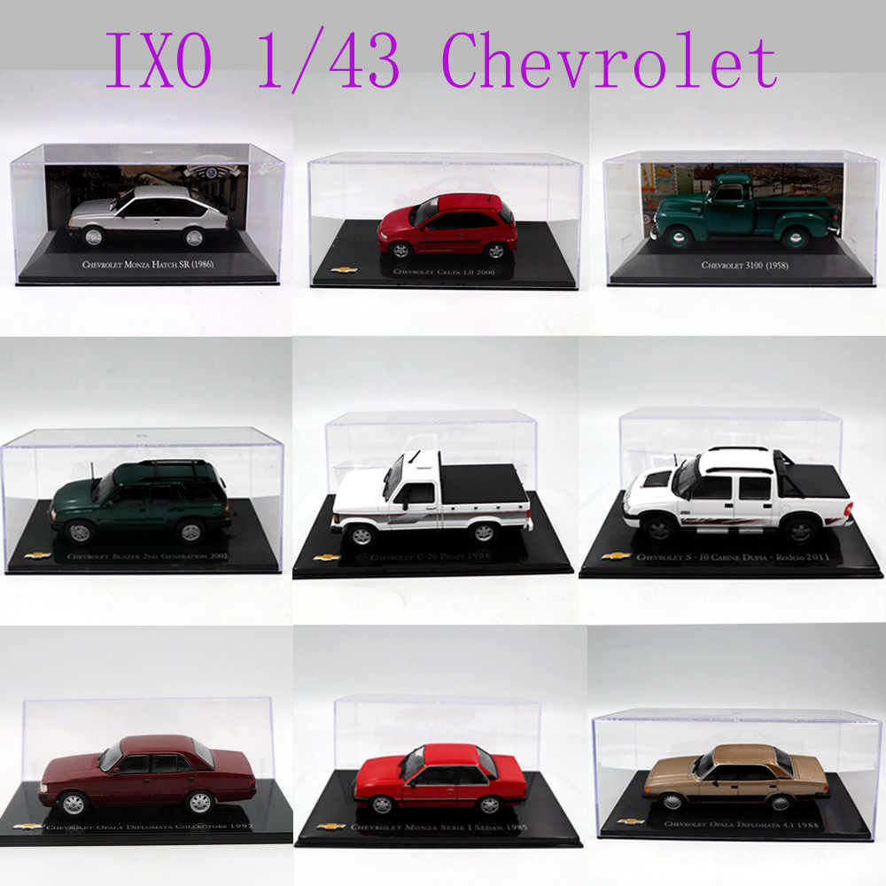 IXO 1:43 Different Years and Styles Chevrolet Chevette Monza/Amazona/Kadett Hatch/opala/Vectra/Celta/ Toys Car Diecast Models
