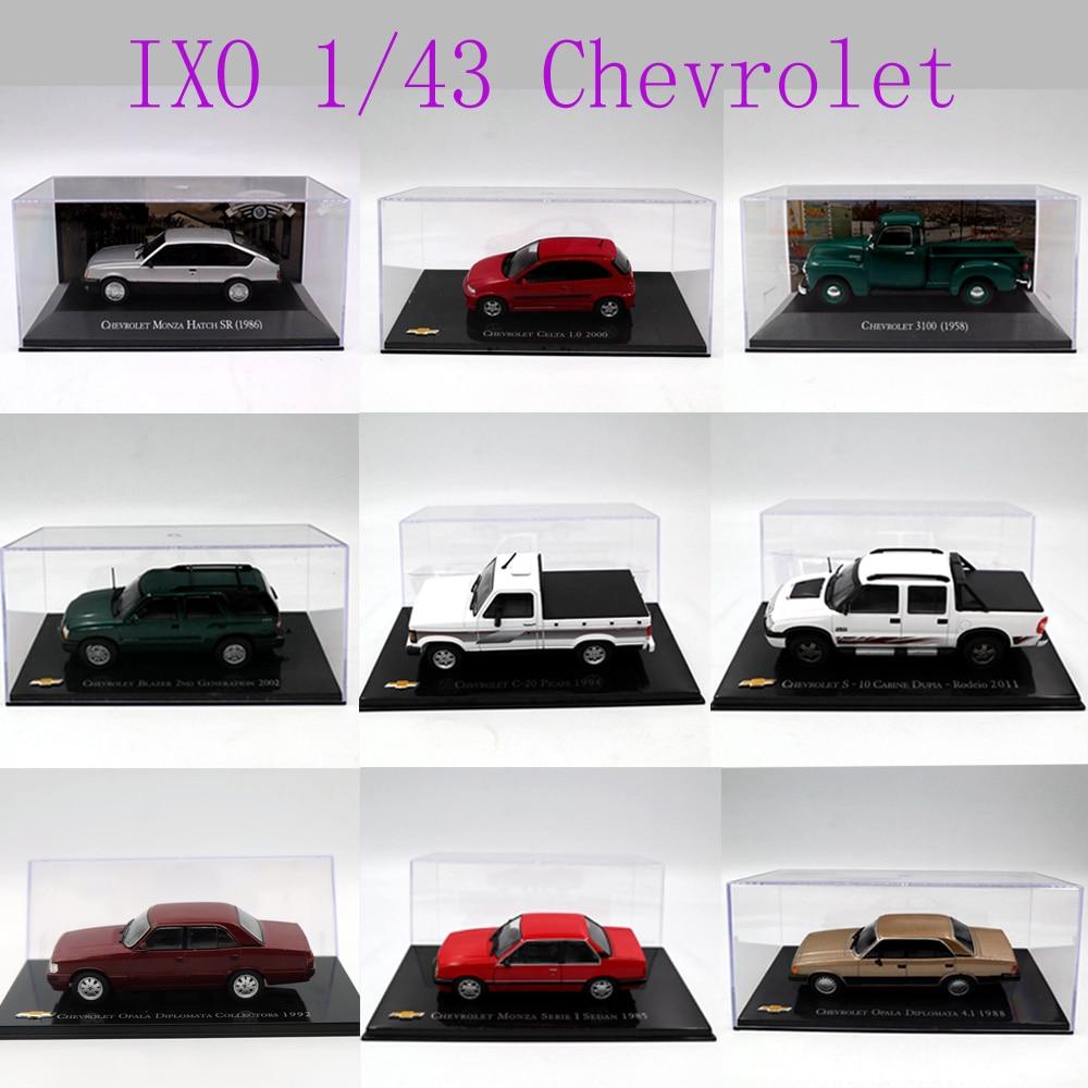 IXO 1:43 Different Years and Styles Chevrolet Chevette Monza/Amazona/Kadett Hatch/opala/Vectra/Celta/ Toys Car Diecast Models