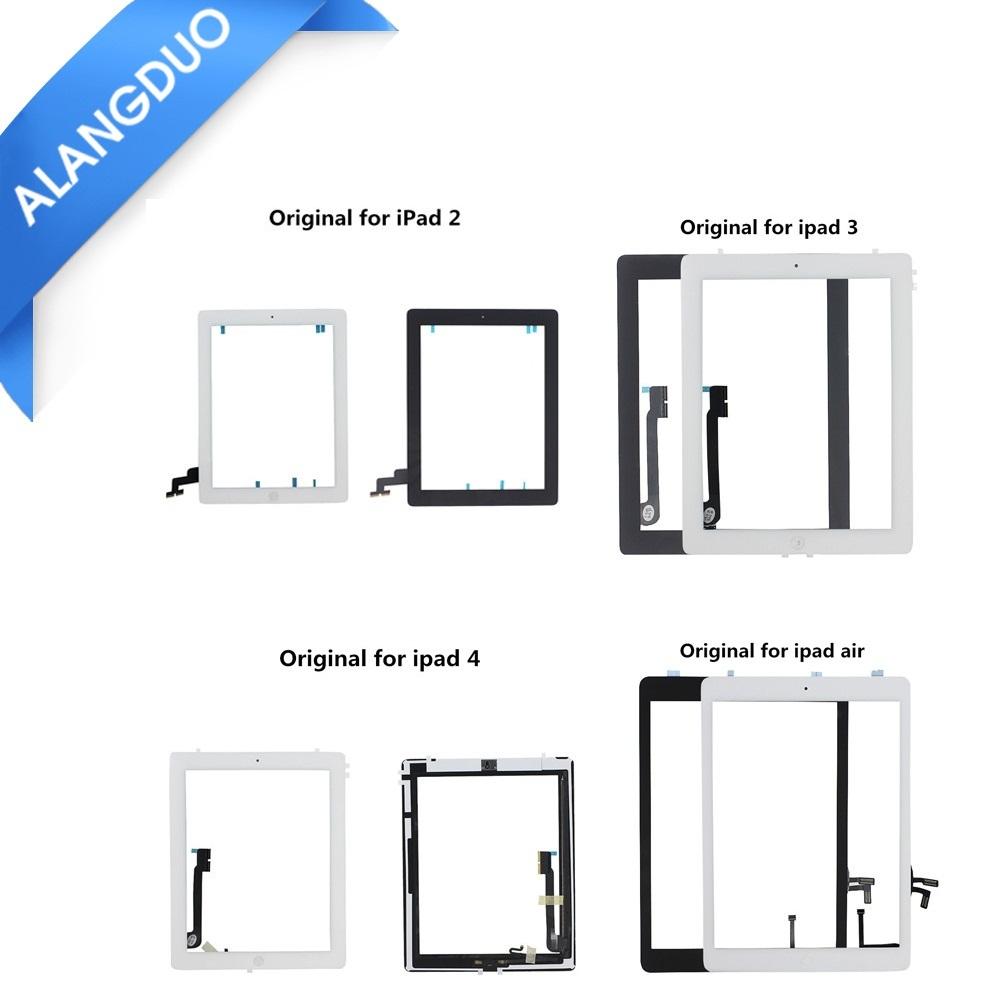 Prix pour ALANGDUO D'origine pour iPad Mini 1 2 ipad 4 3 2 air 5 Écran Tactile Digitizer Verre Panneau Avec Boutons Adhésif Remplacement DHL