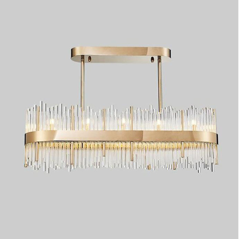 Modern Rectangular Large K9 Crystal Chandelier Lighting for Dining Room Restaurant Bar Post Modern Hanging|hanging pendant light|pendant lights|chandelier lighting - title=