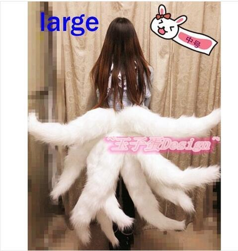 2017 Sexy Fox LOL Ahri Tail Dynasty Ahri Nine Tailed Lol Cosplay Costumes Adult Women Anime Halloween Carnival Cosplay Costumes 2